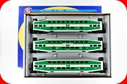 Ho Scale Bombardier Go Transit 3-car Coach And Control Passenger Set, Athearn 2581