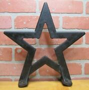 Star Antique Cast Iron Architectural Hardware Element Barn Roof Texas Farm Sign
