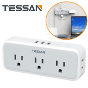 Surge Protected Wall Outlet With 3 Usb Multiple Outlets For Kitchen And Bedroom