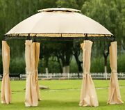 Patio 1011 Ft Barbecue Grill Gazebo Canopy Shelter Tent With Led Lights