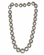 8.75ct Rose Cut Diamond Silver Eye Catching Victorian Look Necklace S683