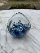 Eickholt Opalescent Art Glass Jellyfish Paperweight Dichroic 1983 Early