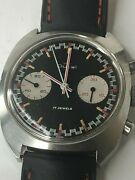 Vintage Duval Chronograph With Black Red And White Dial Panda Dialandnbsp