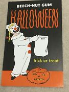 Vintage C1950and039s Beech-nut Gum Advertising Halloween Trick Or Treat Display Sign