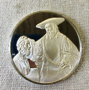 Aristotle Contemplating The Bust Of Homer 1653 Sterling Silver Medal