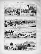 Old Antique Print 1873 Camp Exercise Indian Army Punjaub Lancers Hassein 19th