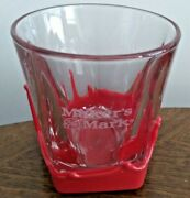Makers Mark Red Wax Dipped Kentucky Bourbon Whiskey Cocktail Rocks Glass 8oz