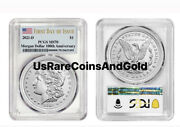 2021-d Morgan Dollar D Mint Mark Pcgs Ms70 First Day Issue Flag