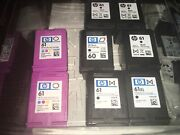 13 Lot Of Hp 61 Hp 60 901 Color And Black Empty Virgin Ink Cartridges Never Refill