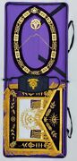 Masonic Collar Apron Embroidered Grand Lodge Past Master Mask Jewel Case Package