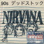 Nirvana Deadstock Rare 1997 90and039s Vintage T-shirt Menand039s L Made In Usa White F/s