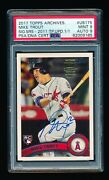 Psa 9 Mike Trout 2017 Topps Archives 2011 Topps Update Autograph Auto Rc D 1/1