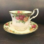 Royal Albert Bone China Old Country Roses One Gilded Teacup And Saucer Pre Owned