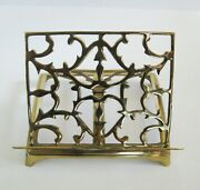 Vintage Brass Book Bible Picture Art Music Easel Heavy Tabletop Stand Adjustable