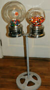 Vintage Ford Gum Gumball Machine / Ford Gum Machine / Vending Double Ford Stand