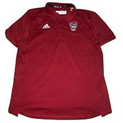 Nc State Wolfpack Adidas Aeroready Sideline Tech Polo Shirt Menandrsquos L New W/o Tags