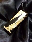 Dunhill Gas Lighter Royking Black Gold Rectangle Lg2742