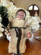 Rare Early Santa Candy Container- Jointed- 9