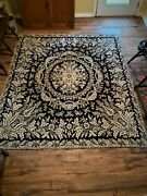 Antique Coverlet Jacquard Blue And Cream 19th Century From Pennsylvania