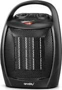 Portable Electric Space Heater For Indoor ,1500w Fan With Adjustable Thermostat