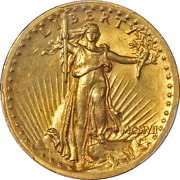 1907 Saint-gaudens Gold 20 High Relief - Wire Edge Pcgs Ms62 Key Date