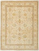 Vintage Hand-knotted Carpet 9and0391 X 11and03910 Traditional Oriental Wool Area Rug