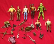 Lot Of Vintage 80and039s Coleco Rambo 6 Forces Of Freedom Action Figures Weapons