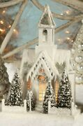 Ivory Church Snowy White Christmas Village Bethany Lowe New Lc1776