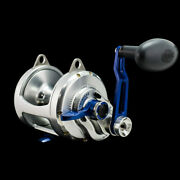 Accurate Boss Twindrag 2-speed Conventional Reel Bx2-30bls Blue/silver