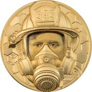 Firefighter Real Heroes 2021 250 1 Oz Pure Gold Proof Coin - Cook Islands
