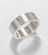 Sterling Silver Trademark Ring Band New