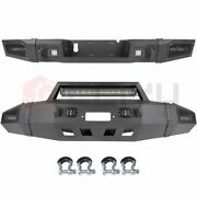 Texture Front / Rear Bumper W Winch Plate Led Light For 2010-2018 Dodge Ram 2500
