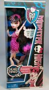 Monster High Dead Tired Doll Draculaura Daughter Of Dracula 2012 New