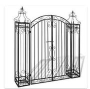 Garden Gate Wrought Iron 4'x8x4' 5 Outdoor Patio Archway Rose Arch Ornamental