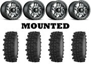 Kit 4 Frontline Acp Tires 32x10-15 On Fuel Anza Gray D558 Wheels Can