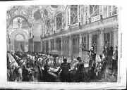Old Antique Print 1859 Banquet Chiefs Army Italy Salle Etats New Louvre 19th