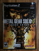 Metal Gear Solid 3 Snake Eater Sony Playstation 2 2004