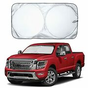 Econour Car Windshield Sun Shade With Storage Pouch   Durable 240t Material C...