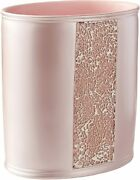 Popular Bath Sinatra Waste Basket, Blush Pink Resin And Cracked Ice Look