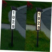 Solar Lighted House Address Numbers Sign, Solar Powered House Numbers Light,