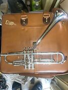 King Dizzy Gillespie Silver Flair Trumpet Raised Bell Silver Plated Beautiful