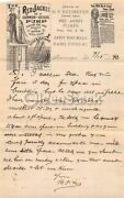 Neumeyer Red Jacket Water Pumps Macungie Pa Antique Advertising Letter 1893