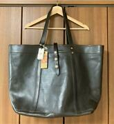 Rrl Leather Tote Bag Men Black Silver Concho Vintage Processing From Japan Used