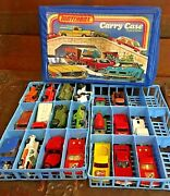 Vintage Matchbox Cars With Carry Case 1970's 20 Cars Lensey Playart Yatming