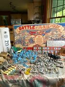Marx Battle Of The Blue And Gray Play Set Number 4658 Huge Lot 196 Pieces