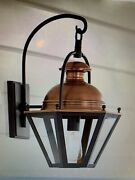 Pottery Barn Case Antique Copper/bronze Indoor Outdoor Lantern Sconce Sold Out