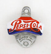 Rare Vintage Pepsi Cola Red White Blue Starr X Wall Mounted Bottle Opener