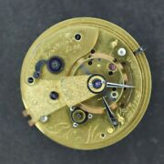 Antique 44.5mm G And M Simons Key Wind Fusee Pocket Watch Movement Diamond Cap