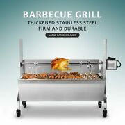 Large Hog Charcoal Barbeque Bbq Rotisserie Spit Roaster W/ Electric Motor Grill