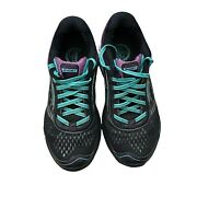 Brooks Ghost 9 Black Teal Purple 1202251b092 Low Womenand039s Running Shoes Size 7.5